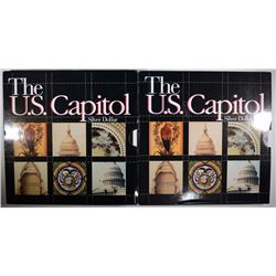 2 - SILVER PROOF DOLLARS - BOTH 1994 U.S. CAPITOL in COMMEMORATIVE HOLDER