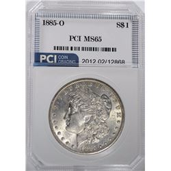 1885-O MORGAN SILVER DOLLAR PCI GEM BU