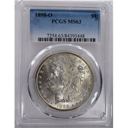 1898-O MORGAN SILVER DOLLAR PCGS MS63