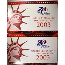 ( 2 ) 2003 U.S. SILVER PROOF SETS IN ORIGINAL PACKAGING