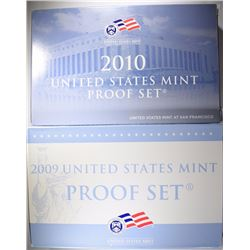 2009 & 2010 U.S. PROOF SETS IN ORIGINAL PACKAGING