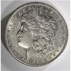 1884-S MORGAN DOLLAR XF CLEANED