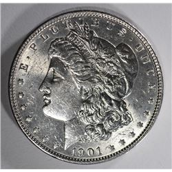 1901 MORGAN DOLLAR AU/BU LIGHT MARKS OBV.
