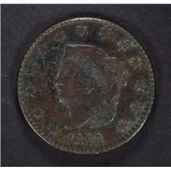 1822 LARGE CENT, XF mild porosity