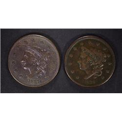 1837 & 1838 LARGE CENTS, VF