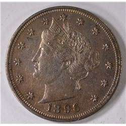 1896 LIBERTY NICKEL, AU
