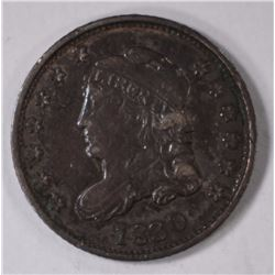 1830 CAPPED BUST DIME, XF