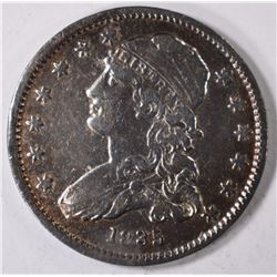 1835 CAPPED BUST QUARTER, VF+