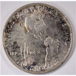 1923-S MONROE COMMEMORATIVE HALF DOLLAR, BU