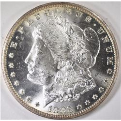 1883-CC MORGAN SILVER DOLLAR, CHOICE BU