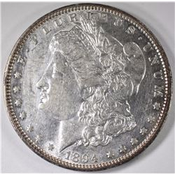 1894 MORGAN SILVER DOLLAR, AU  KEY DATE