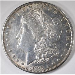 1895-S MORGAN SILVER DOLLAR, AU  KEY DATE!!!