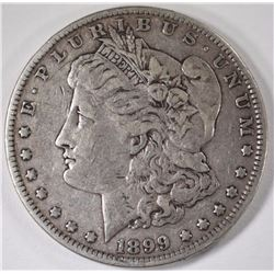 1899 MORGAN SILVER DOLLAR, VF  KEY DATE!