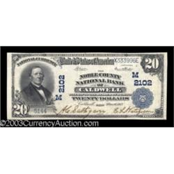 Caldwell, OH $20 1902 Plain Back Fr. 655 The Noble County NB