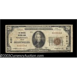 Marshall, TX $20 1929 Ty. 1 The Marshall NB