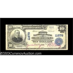 Mercedes, TX $10 1902 Plain Back Fr. 633 The First NB