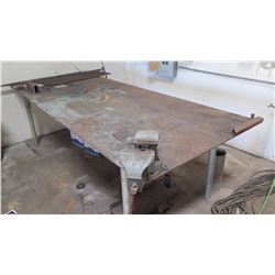 "Metal Work Table w/ Vise 48"" x 120"" (36"" H)"