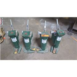 Qty 4 Hilman Roller 5-Ton Tow Jacks