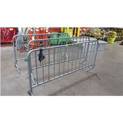 Qty 3 Metal Crowd Control Barriers