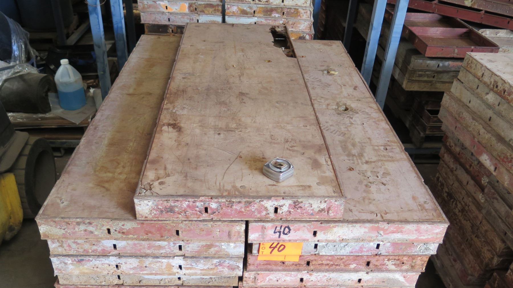 Pallet of symons concrete wall forms steel ply panels