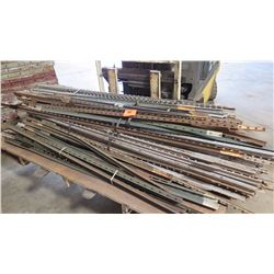 Contents of Pallet - Metal Fence Posts