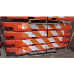 Qty 14 Orange Traffic Work Zone Barricades