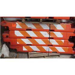 Qty 12 Orange Traffic Work Zone Barricades
