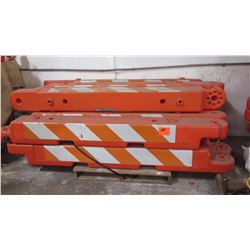 Qty 10 Orange Traffic Work Zone Barricades
