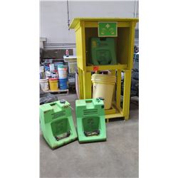 Qty 3 Honeywell Emergency Eye Wash Units w/Shelter