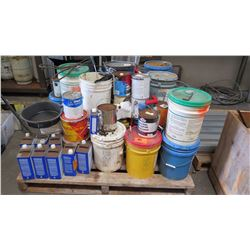Contents of Pallet: Paint, Lacquer Thinner, Resin, etc.