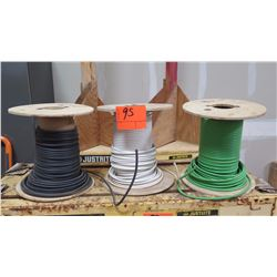 Qty 3 Partial Spools of Wire