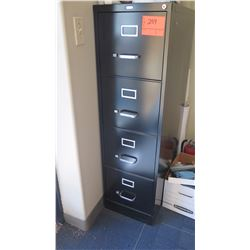 Black 4-Drawer Vertical Metail File Cabinet