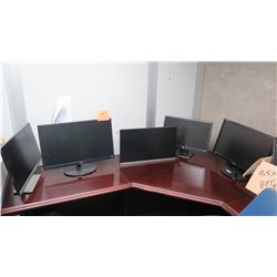 Qty 5 Computer Monitors (No Cables, Power Supplies, etc.)