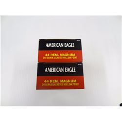 100 ROUNDS AMERICAN EAGLE 44 REM MAG 240 GR JHP