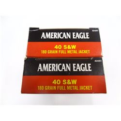 100 ROUNDS AMERICAN EAGLE .44 S& W 180 GR FMJ