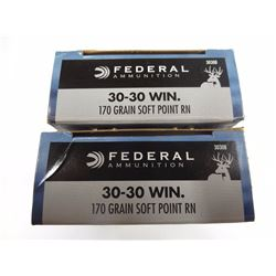 40 ROUNDS FEDERAL 30-30 WIN 170 GR SPRN