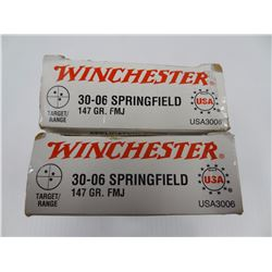 40 ROUNDS WINCHESTER 30-06 147 GR MIXED FMJ / SP