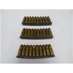 30 ROUNDS 7.63 MAUSER WITH 3 STRIPPER CLIPS- HEAD STAMP DWM K K 403
