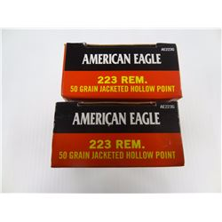 40 ROUNDS AMERICAN EAGLE .223 RIM 50 GR JHP
