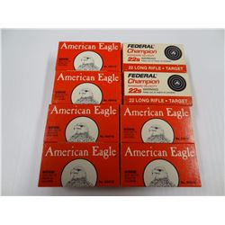 400 ROUNDS AMERICAN EAGLE/ FEDERAL .22LR