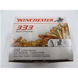 333 ROUNDS WINCHESTER .22LR 36 GR JHP