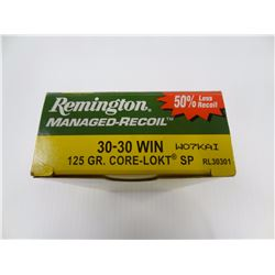 20 ROUNDS REMINGTION 30-30 WIN 125 GR SP