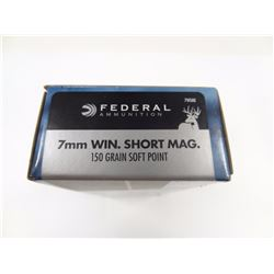 20 ROUNDS FEDERAL 7MM WIN SHORT MAG 150 GR SP