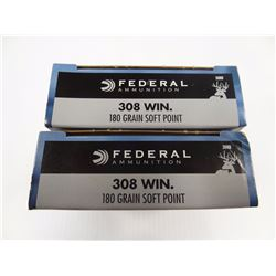 40 ROUNDS FEDERAL 308 WIN 180 GR SP