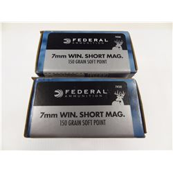 40 ROUNDS FEDERAL 7MM WIN SHORT MAG 150 GR SP