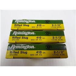"15 ROUNDS REMINGTON .410 GA 2 1/2"" 1/5 OZ SLUG"
