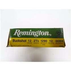 "5 ROUNDS REMINGTON 12 GA 2 3/4"" 00BK"