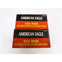 40 ROUNDS AMERICAN EAGLE 223 REM 50 GR JHP