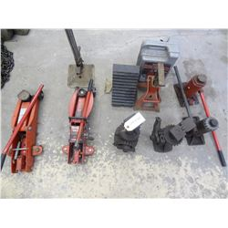 BULK LOT CAR JACKS, AXLE STANDS *NO SHIPPING*