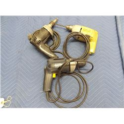 3 CORDED DRILLS *NO SHIPPING*